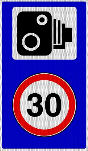 speed camera 30mph road sign