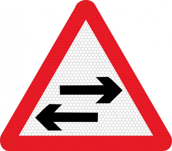 Signfaces T thru Z |Two Way Traffic Ahead Sign