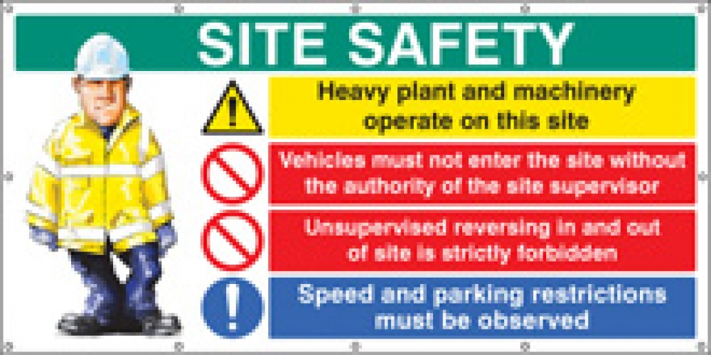 Site Safety Banners 2440x1270mm Ssp Print Factory