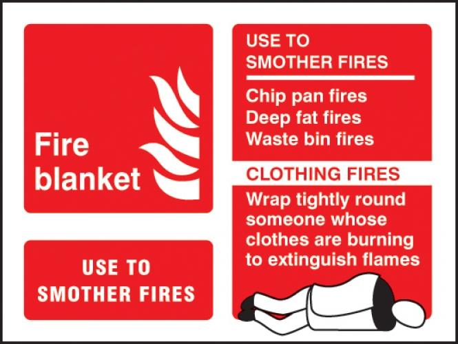 Fire Blanket Fire Equipment Sign Landscape Ssp Print Factory