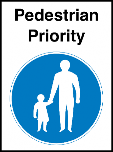Pedestrian Priority Sign Ssp Print Factory