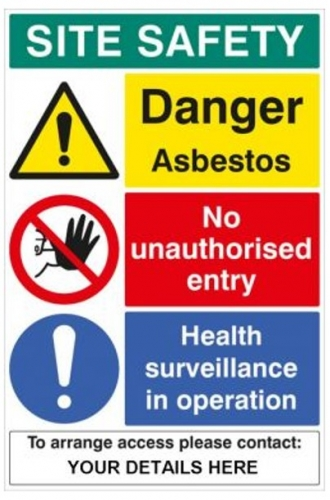 Asbestos Site Safety Sign Ssp Print Factory
