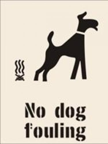 No Dog Fouling Stencil Ssp Print Factory