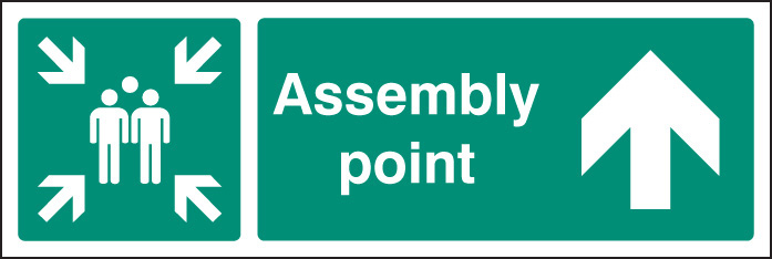 Assembly Point Up Ahead Signs Ssp Print Factory