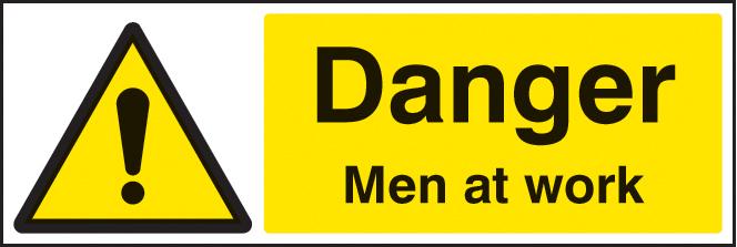 Danger Men At Work Sign Ssp Print Factory
