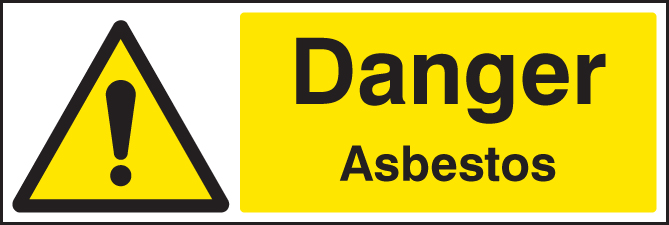 Danger Asbestos Sign Ssp Print Factory