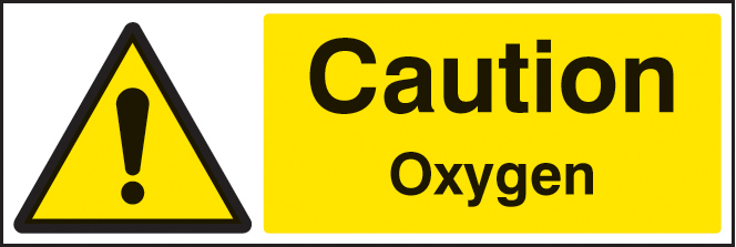 Caution Oxygen Sign 4410 Ssp Print Factory