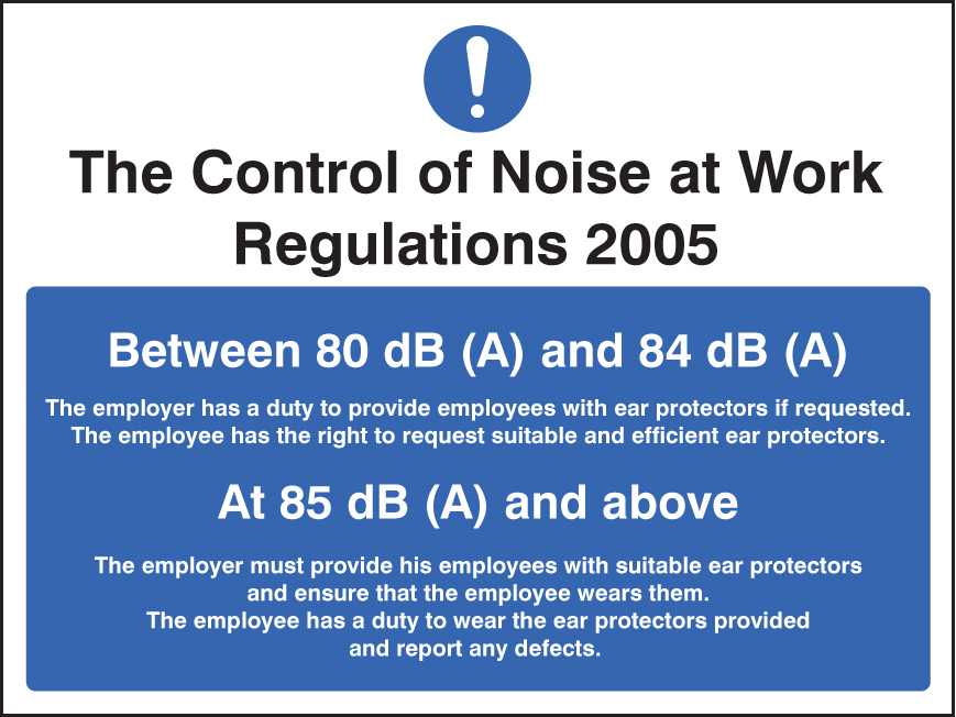 Noise At Work Regulations Sign Ssp Print Factory