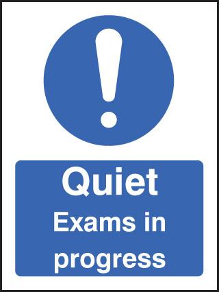 Quiet Exams In Progress Sign Ssp Print Factory