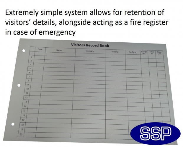 Executive Visitor Sign-in Book and Fire Register | SSP Print Factory