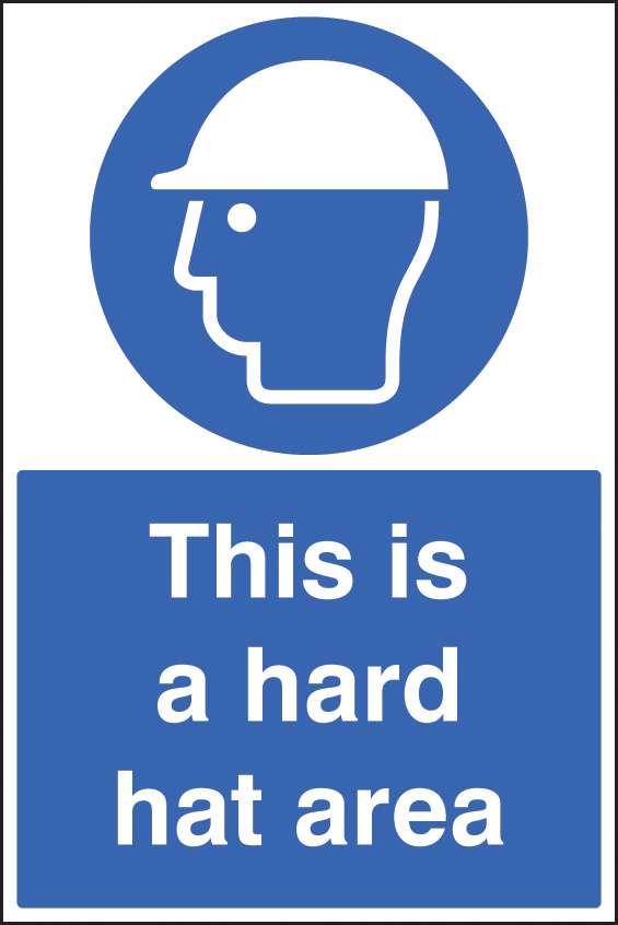 This Is A Hard Hat Area Sign Ssp Print Factory