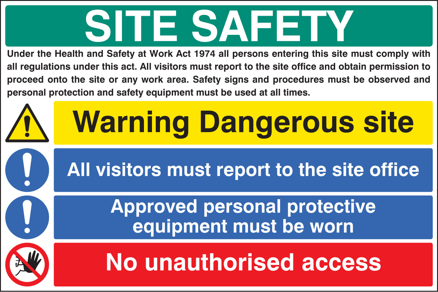 Site Safety Board 6416 Ssp Print Factory