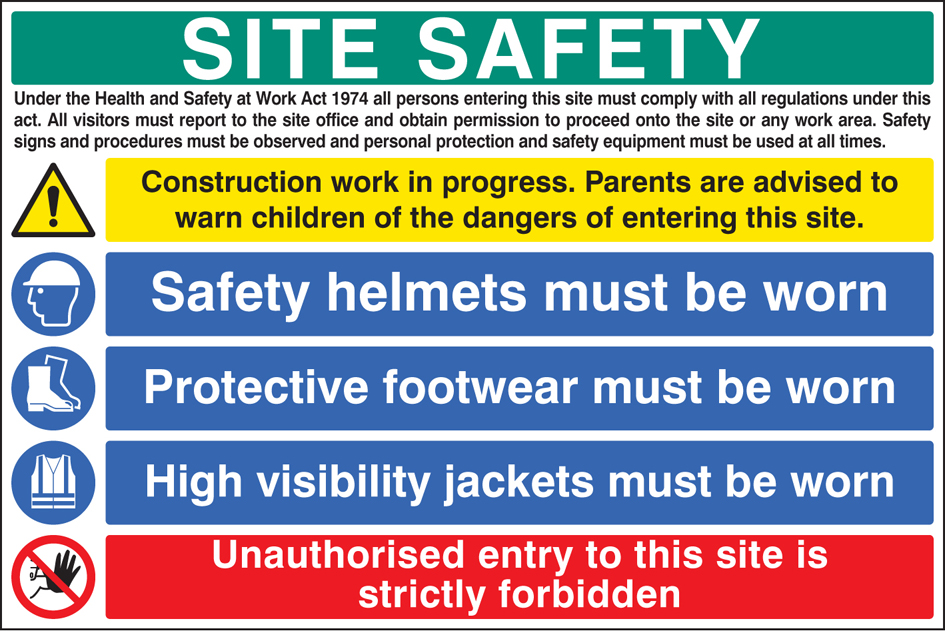 Site Safety Board 6447 Ssp Print Factory