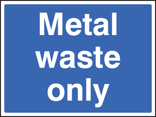 Metal Waste Only Sign Ssp Print Factory