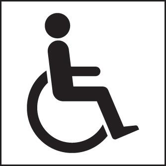 Disabled Symbol Sign Ssp Print Factory