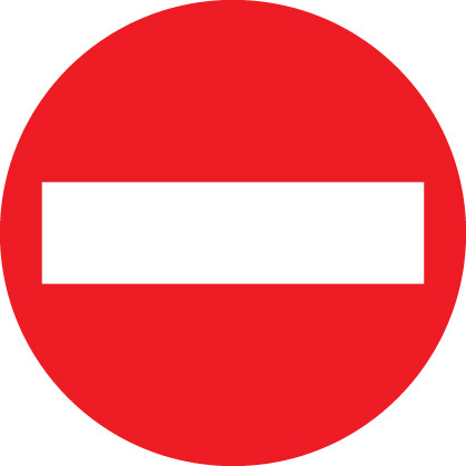 no entry road sign ssp print factory