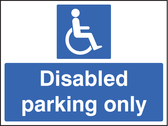 Disabled Parking Only Ssp Print Factory