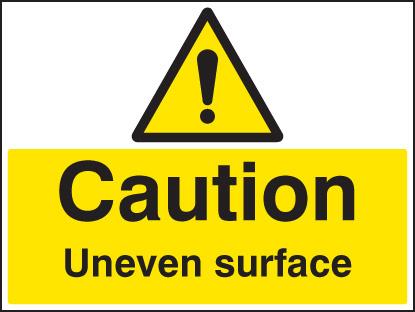 Caution Uneven Surface Sign Ssp Print Factory