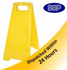 Blank Yellow Folding Sign