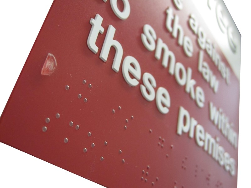 Braille Safety Signs