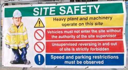 Site safety banner