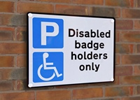Disabled Badge Holders Sign