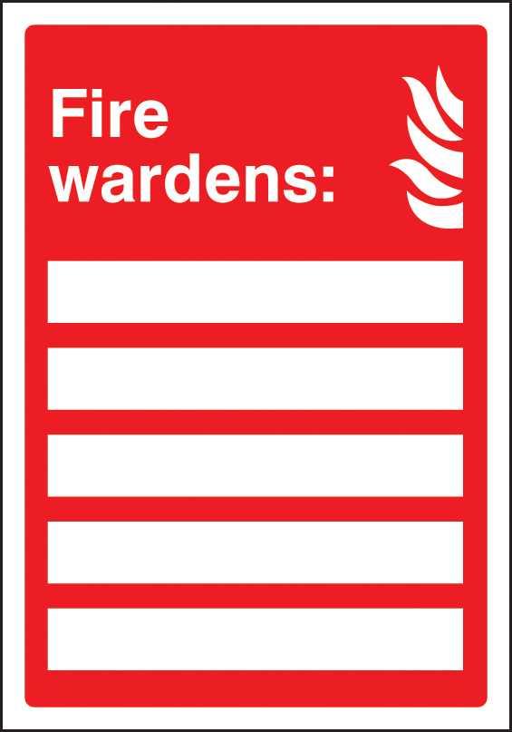 Fire Wardens Update Yourself Sign | SSP Print Factory