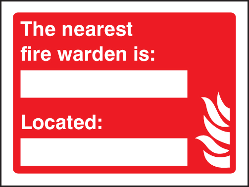 The Nearest Fire Warden Name Located Place Sign