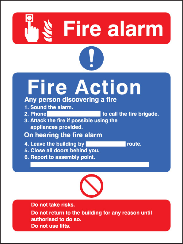 Fire Action Call Point With Lift Sign Ssp Print Factory