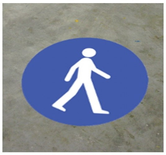 Pedestrian floor graphic