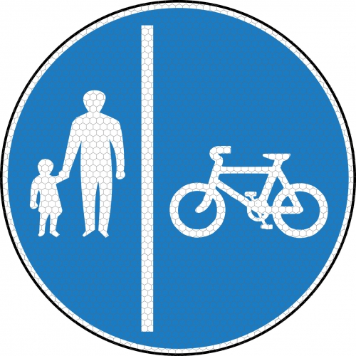 Bicycle Amp Pedestrian Road Signs Left 957 Ssp Print Factory