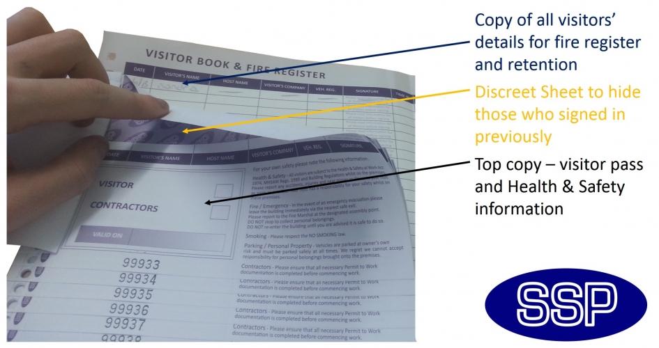 School Visitors Book   SSPPrintFactory co uk