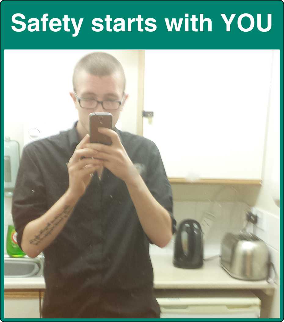 Safety Starts With YOU Mirror Sign