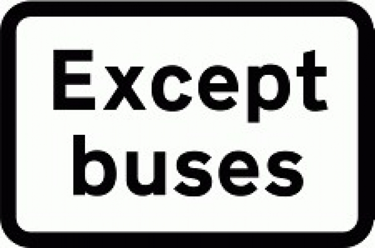 Except Buses Supplementary Sign Ssp Print Factory