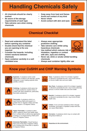 Chemical Handling Safety Poster Ssp Print Factory