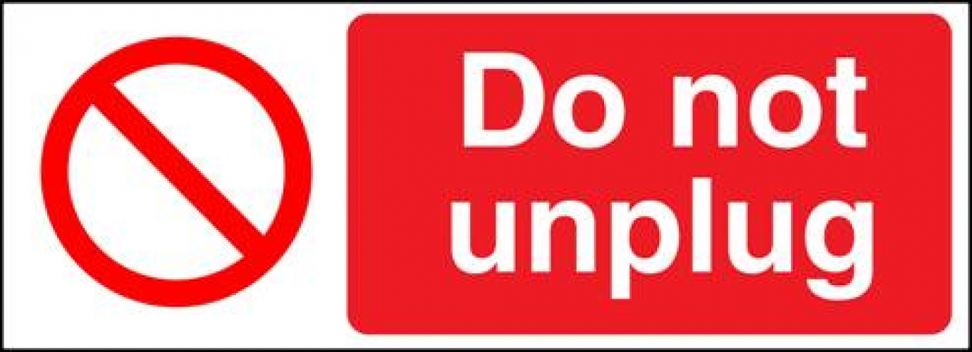 Do Not Unplug Ssp Print Factory