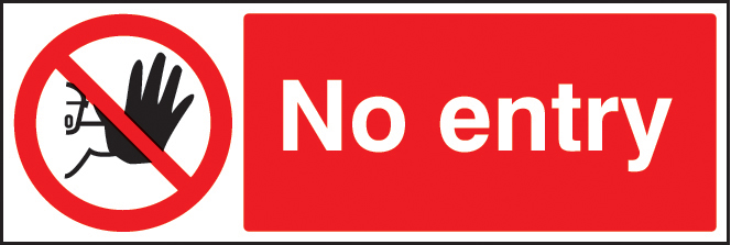 No Entry Sign Ssp Print Factory