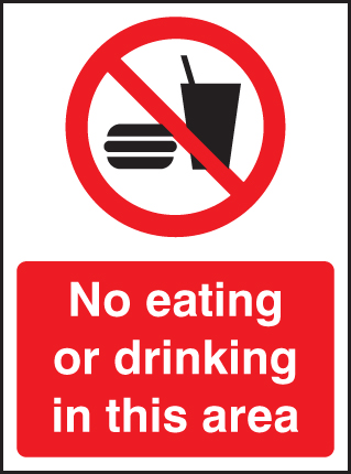 No Eating Or Drinking In This Area Sign Ssp Print Factory