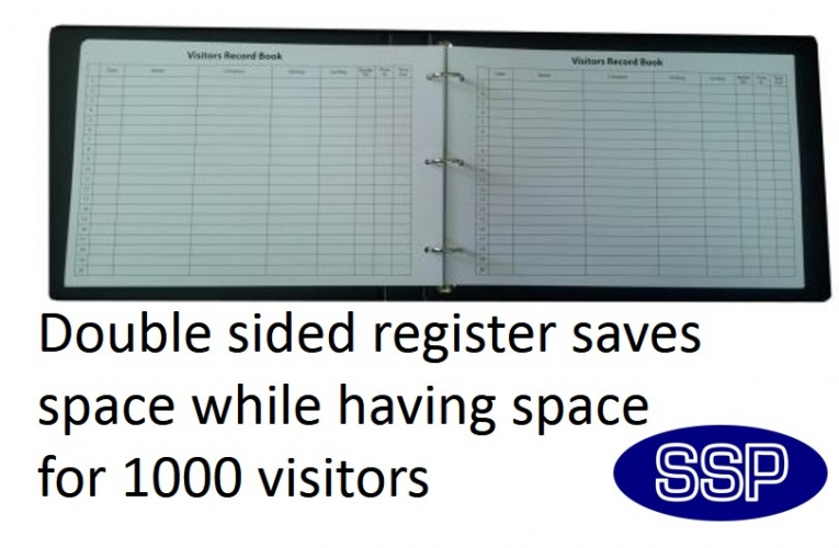 No Smoking In Car Law >> Executive Visitor Sign-in Book and Fire Register | SSP Print Factory