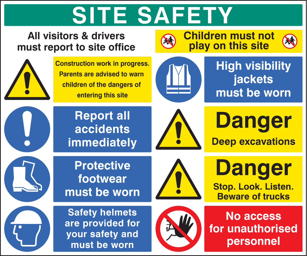 Site Safety Board 58028 Ssp Print Factory