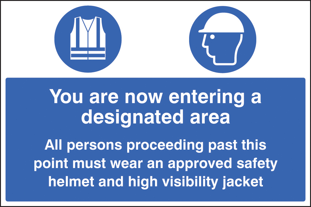 You Are Now Entering A Designated PPE Area Sign