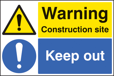 Construction Site Keep Out Sign Ssp Print Factory