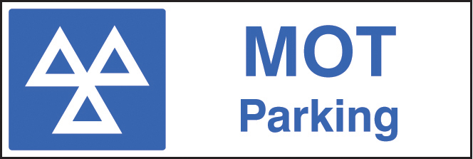 MOT parking sign