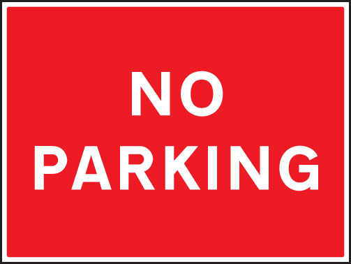 Terrible image within printable no parking sign