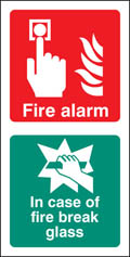 Fire Alarm / Break Glass Sign