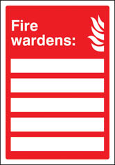 Fire Wardens Update Yourself Sign