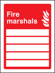 Fire Marshals (5 People) Sign