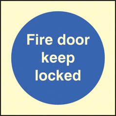 Fire door keep locked Sign (1635)