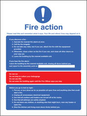 Fire Action - Multiple Occupation Sign