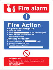 Fire Action/Call Point With Lift Sign